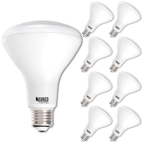Energy Efficient Flood Lights Indoor: Sunco Lighting 8 Pack BR30 LED